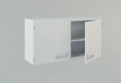 Настенный шкаф, 900 x 350 x 630 мм, 2 раздвижные стеклянные дверцы, 1 полка
