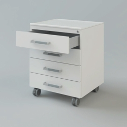 Передвижные шкафы для расположения под столом, 900 x 516 x 740 мм, 2 дверцы, 2 ящика 150 мм, запираемый