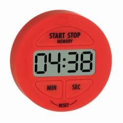 Цифровой таймер обратного отсчета и секундомер, круглый, 00:99:59 ч:мин:с, 55 x 17 x 55 мм, ± сек / день