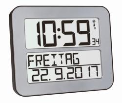 Радиоуготовные настенные часы TimeLine Max с цифровым дисплеем