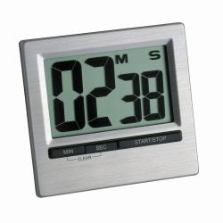 Цифровой таймер обратного отсчета и секундомер, 00:99:59 ч:мин:с, 84 x 16 x 77 мм, ± сек / день