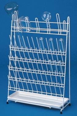 Стойка для сушки посуды, проволока покрытая ПЭ, 420 x 170 x 300 мм, 12 прутов и 11 арок