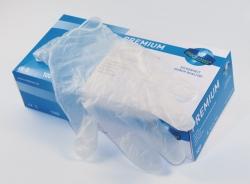 Одноразовые перчатки Premium, виниловые, L (8 - 9)
