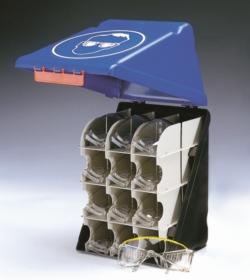 PSA Безопасные боксы для хранения SecuBox Mini/Midi/Maxi, Maxi, синий, для средств защиты глаз, со стойкой для 12 защитных очков, синий, Maxi