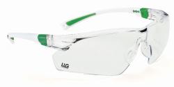 LLG защитные очки lady, черный/зеленый, прозрачные, против царапин, противотуманные, УФ400, 2C-1.2 U 1 FT CE