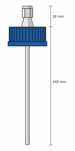 Закручивающаяся крышка GL 45 с держателем для термопары, DURAN®