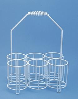 Корзина для бутылок. Из проволоки, покрытой полиэтиленом., 250 мл, 320 мм, 80 мм