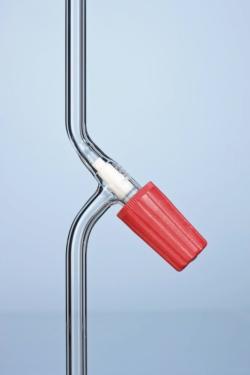 Кран вакуумный PRODURAN®, 10 мм, прямой, 0 ... 6,0 мл / мин, прямой, 10 мм