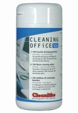 Салфетки чистящие Cleaning Office, со спиртом, Упаковка-диспенсер на 100 салфеток