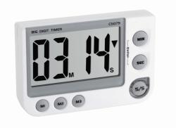 Цифровой таймер обратного отсчета и секундомер, 00:99:59 ч:мин:с, 91 x 21 x 60 мм, ± сек / день