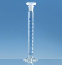 Мерные цилиндры, боросиликатное стекло 3.3, высокие, класс А, синяя градуировка, 25 мл, 0,5 мл, 190 мм