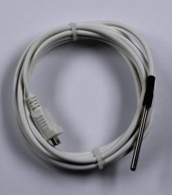 Аксессуары для регистратора температурных данных LOG100/LOG100 Cryo, LOG100 / LOG110, Внешний температурный датчик PT100, 3 х 40 мм, - 50 ... 120 °C, с 8 м кабелем