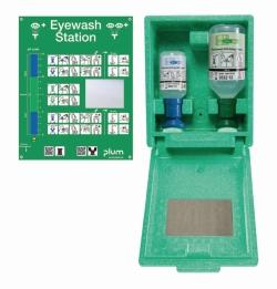 Настенная аптечка с комплектом растворов для экстренного промывания глаз, Настенная аптечка с комплектом растворов для экстренного промывания глаз(200 мл рН нейтрального, 500 мл 0,9% раствора NaCl)