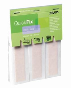Диспенсер для пластыря QuickFix, Наполняющая упаковка QuickFix с текстильными бандажами, 120 х 20 мм, 30 частей