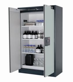 Шкафы для безопасного хранения Q-PEGASUS-90 с двустворчатыми дверями, Плинтус для шкафа безопасного хранения Q90.195.120 WDAC
