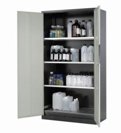 Шкафы для хранения химических веществ CS-CLASSIC с двустворчатыми дверями