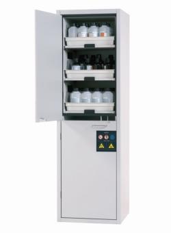 Шкафы для хранения кислот и щелочей SL-CLASSIC с двустворчатыми дверями, Шкаф для хранения кислот и щелочей SL.196.060.MH, 6 выдвижных полок