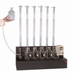 Оборудование для определения анаэробного сбраживания, RM 6, Многоместная магнитная мешалка