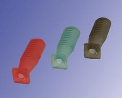Груша для пипеток, силиконовая, Прозрачный красный