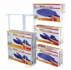 Диспенсер для перчаток LLG, металлическое покрытие, 95 мм, 400 мм