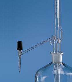 Автоматические бюретки, Pellet pattern, боросиликатное стекло 3.3, класс B, без крана, 50 мл, 0,1 мл, без бутылки, 0,08 ± мл, 0,1 мл