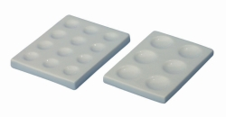 Пластины для окрашивания LLG, фарфор, 2 мм, 17 мм