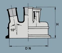 Крышка с торцевым шлифом, 150 мм, 150 мм, 2 x 29/32 NS, 2 x 29/32 NS, 45/40 NS