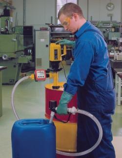 Насосы для бочек с питанием от сети, 19 mWS, 1200 мм, Насос для кислот, полипропилен, 85 л/мин
