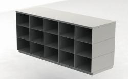 Скамейки для сидения, нержавеющая сталь, 600 мм, 600 мм, Двухсторонняя версия, 15 отсеков с каждой стороны, 1360 мм, 600 мм