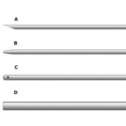 Иглы NM1 / 2.5, A, 0,63 мм, 115 мм, A