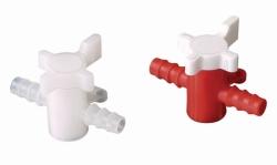 Кран 2- / 3-ходовой LaboPlast®, 8 мм, ПЭ/ПП, 11 ... 13 мм, 3-ходовой, ПЭ/ПП