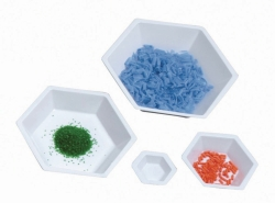 Шестиугольные чаши для взвешивания LLG, PS, антистатические, Белый, Средний