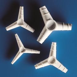 Переходники для трубок, Y-образные, 120°, полипропилен, 9,6 мм, 14 ... 16 мм