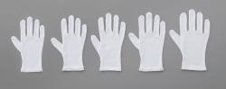 Хлопок гладкая перчатка, белый, 230 мм, L