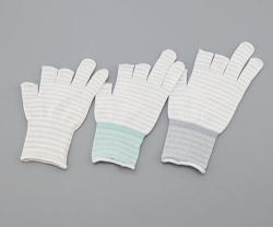 Перчатки ASPURE ESD, 3 полуфингера, белый, S