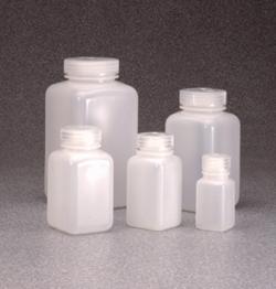 Бутылки квадратные с широкой горловиной, HDPE, 63 mm, 1000 мл