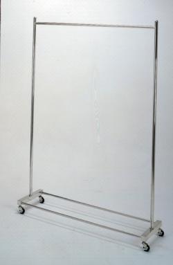 Вешалка гардеробная, напольная, нержавеющая сталь, 1800 x 400 x 2000 мм