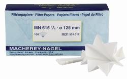 Фильтровальная бумага для качественного анализа, тип MN 615 1/4, диски, 90 мм, 22 сек
