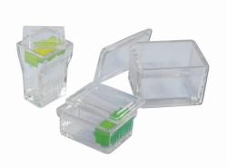 Стеклянные чмкости для окрашивания, 85 x 70 x 20 мм, Вставка из нержавеющей стали для емкости типа