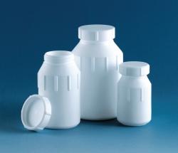 Широко рт бутылки, PTFE, с винтовой крышкой, 80 мм, 52 мм