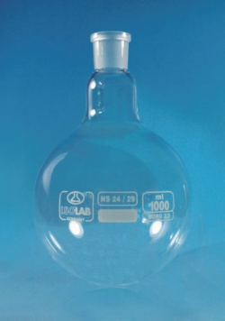 Круглодонные колбы, боросиликатное стекло 3.3, 85 мм, 34 мм