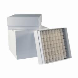 LLG-Криобоксы, с пластиковым покрытием, белый, 75 мм, 136 x 136 мм