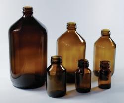 Бутылки с узкой горловиной, Стекло нейтральное, 96 мм, 100 мл