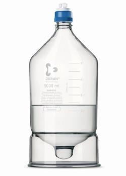 ВЭЖХ резервуар для бутылок DURAN®, боросиликатное стекло 3.3, с конусным дном, 45 GL, 235 мм
