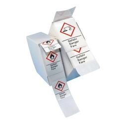 Предупредительные знаки LLG-GHS, самоклеящиеся, рулон или коробка, GHS 09, 37 x 52 мм