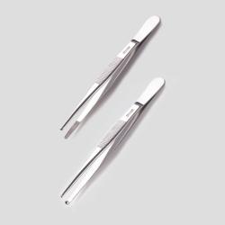 Пинцет, 18/10 стальной, 300 мм