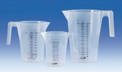 Мерный стакан с ручкой, ПП, ПП, ПП, прозрачный, 3000 мл, 170 мм