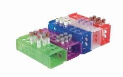 Штатив для реакционных пробирок, ПП, клинический, для 4-х размеров пробирок, Прозрачный
