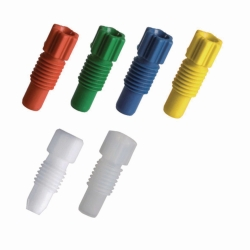 Переходники и втулки для капиллярных соединений для SafetyCaps / SafetyWasteCaps, PTFE, белые, Переходники для капилляров, 6,35 (1/4