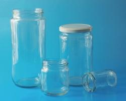 Сосуды с широкой горловиной LLG, стеклянные, transparent, 80,5 мм, 212 мл